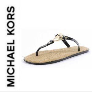 BRAND NEW authentic MK cork black sandals